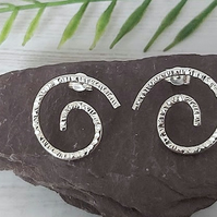 Sterling silver swirl earrings.