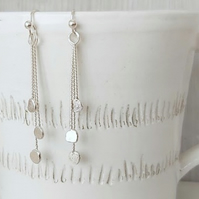Sterling silver twisted wire with fine silver nuggets.