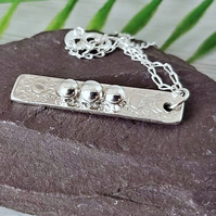 Sterling and fine silver pendant necklace.