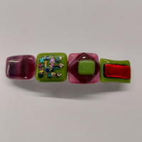 Handmade Fused Glass Hair Clip