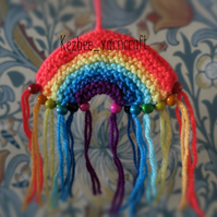 Rainbow Christmas tree hanging SET of TWO