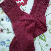 Red Onion, Hand Knitted Socks