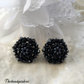 Sparkly black earrings