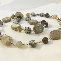 Semiprecious Dalmatian Jasper Necklace