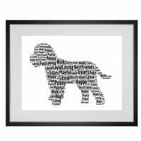 Personalised Cockapoo Cavapoo Dog Design Word Art Gifts