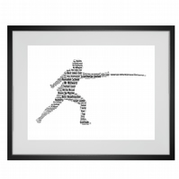 Personalised Fencer Fencing Design Word Art Gifts