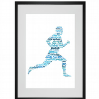 Personalised Runner Jogger Design Word Art Gifts