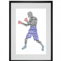 Personalised Boxer Boxing Design Word Art Gifts