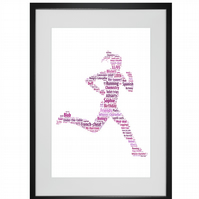 Personalised Female Runner Jogger Design Word Art Gifts
