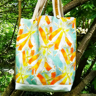 Abstract fish design tote
