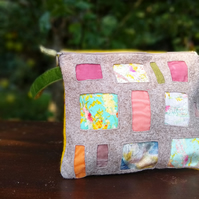 Felt applique zip pouch