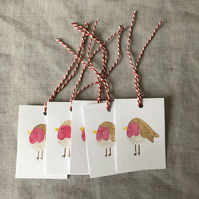 Robin Christmas Gift Tags