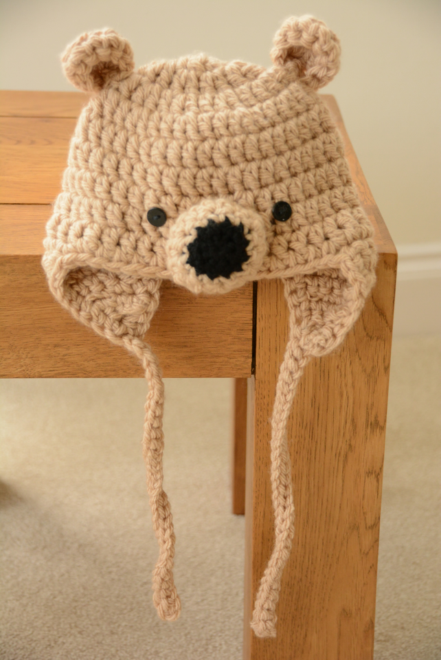 Baby Bear Hats - Age 6 months Light Brown