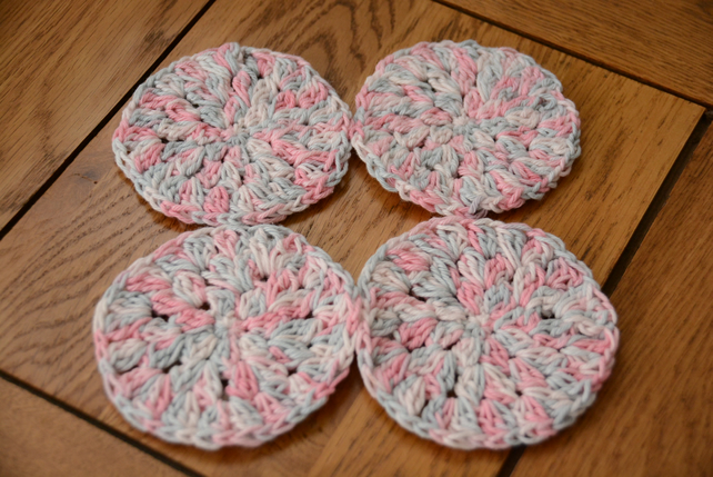 Face Scrubbies - Pack of 4 Pink
