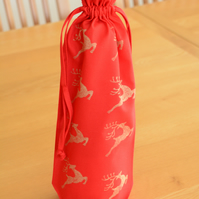 Christmas Bottle Bag - Reindeers