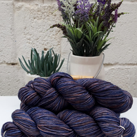 """Storm"". Hand dyed wool. DK weight 100g."