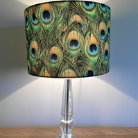 Peacock Feathers Handmade Lampshade, Drum or Empire Shapes