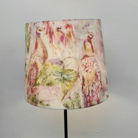 Voyage Maison 'Ebba Sunset' Peacocks Handmade Empire Lampshade