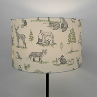 New Forest, Countryside Handmade Drum Lampshade
