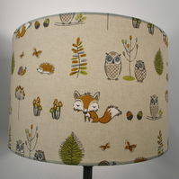 Woodland Fox, Countryside Handmade Drum Lampshade
