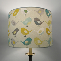 Scandi Birds Handmade Drum Lampshade