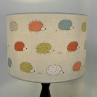 Hedgehogs Modern Countryside Handmade Drum Lampshade