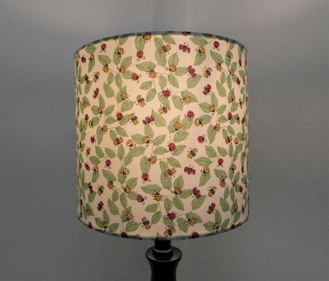 Ladybirds Handmade Lampshade, Drum or Empire Shapes
