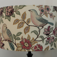 Orchard Birds, Heritage, Handmade Lampshade, Drum or Empire Shapes