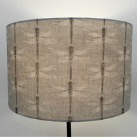 Grey Dragonfly Handmade Lampshade