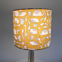 Mustard Animals Handmade Lampshade