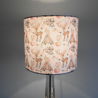 Animal Chic Campout, Stag, Fox, Camping, American, Handmade Lampshade