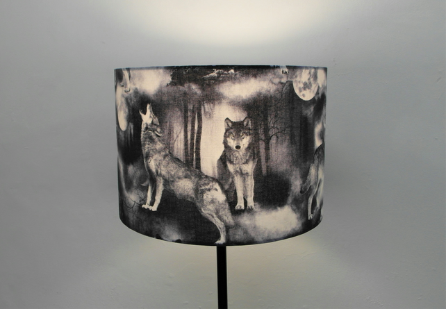 Wild Wolves Gothic Handmade Lampshade