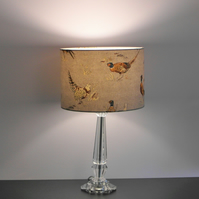 Pheasants Classic Countryside Handmade Drum Lampshade