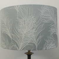 Duck Egg Blue Feathers Handmade Drum Lampshade