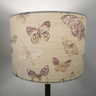 Purple Butterflies Handmade Drum Lampshade