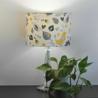 Dalarna Scandi Birds Design Handmade Lampshade, Drum & Empire Shapes