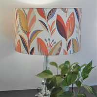 Leon Burnt Orange Modern Flower Design Handmade Lampshade, Drum & Empire Shapes