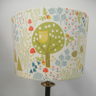 Wild Wood, Countryside Animals' Handmade Lampshade, Drum or Empire Shapes
