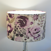 Misty Moors Lilac Rose Classic Flowers Handmade Lampshade, Drum & Empire Shapes