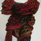 Hand Knitted Autumn Colours Curly Swirly  Scarf