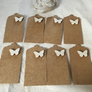 Wooden Butterfly Gift Tags