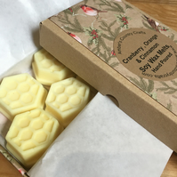 Cranberry Orange and Cinnamon Soy Wax Melts