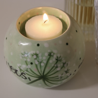 Wildflower ceramic T light holder