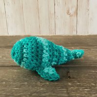 1 Crocheted cat toy whale with catnip