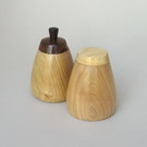 A pair of spice pots