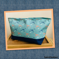 Cosmetic bag. Fully lined with inside pocket.