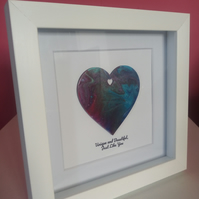 Unique, Handpainted Love Heart Frame, Romantic Gift for Women, Wife, Girlfriend