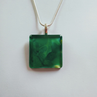 Beautiful Green Pendant Necklace One of a Kind Unique Gift Christmas Women's