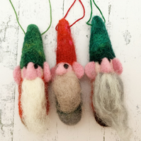 Needlefelted Christmas Gnome - Handmade Swedish Inspired Christmas Decoration