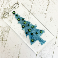 Fused Glass Bubbly Tree Hanging - Handmade Glass Decoration